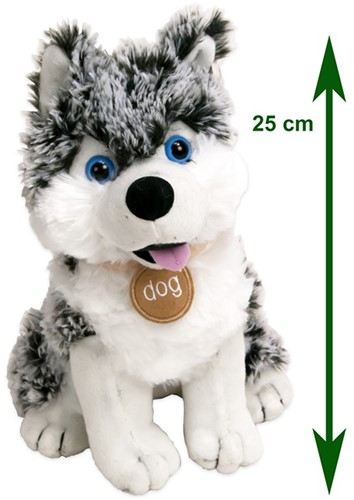 Pluche Husky Snowstar 25cm