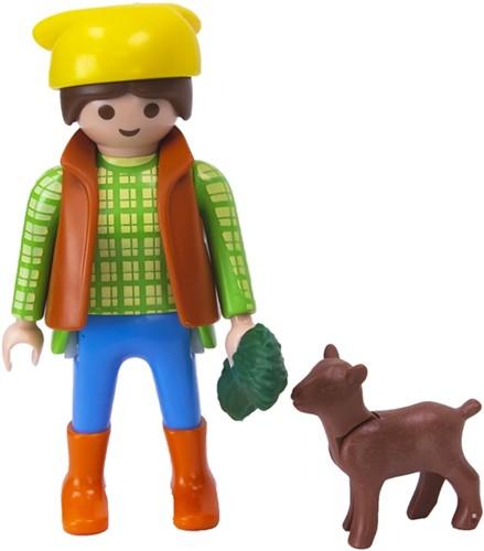 Playmobil Boerin met geit in zakje