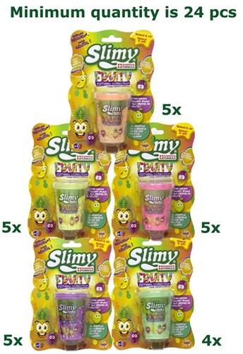 Slimy Fruity Smelly Slijm 80gram in pot 6x7,5cm assorti