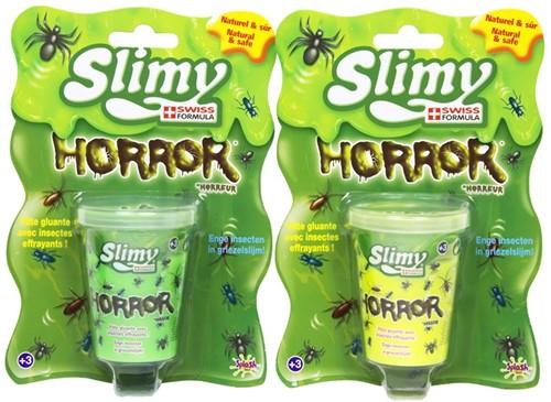 Slimy Horror Slijm 80gram in pot 6x7,5cm assorti