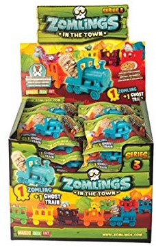 Blind bag Zomlings in the Town Series 3 in display