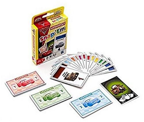 Monopoly Cars 2 Snap Em kaartspel in display