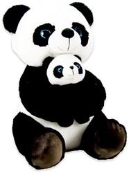 Pluche Panda met baby 40cm
