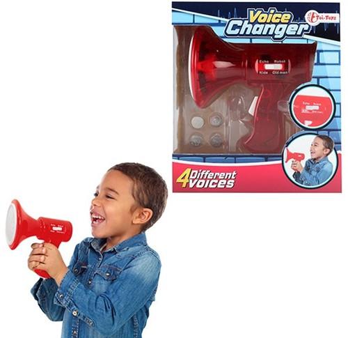 Megafoon met stemvervormer (4 stemmen)