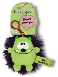 Nici Pluche Sleutelhanger Be Happy! 8cm