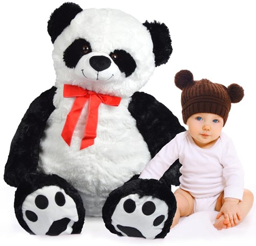 "Pluche Panda Pink Papaya ""Pan Tao"" 100cm-2"