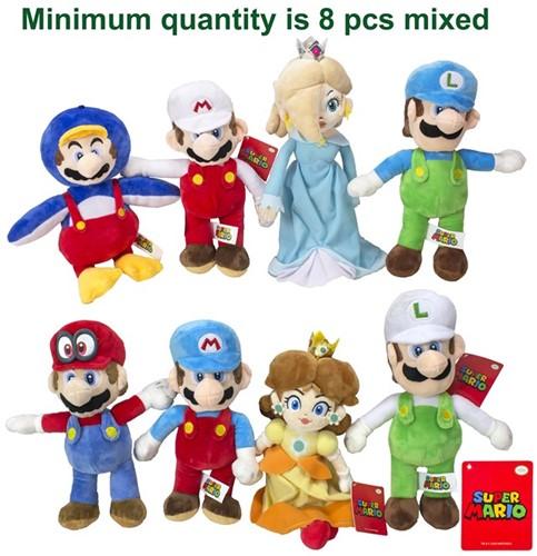 Mario Bross Pluche Characters 8 assorti S3 36cm