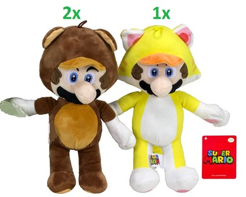 Mario Bross Pluche Power Suits 2 assorti S3 36cm
