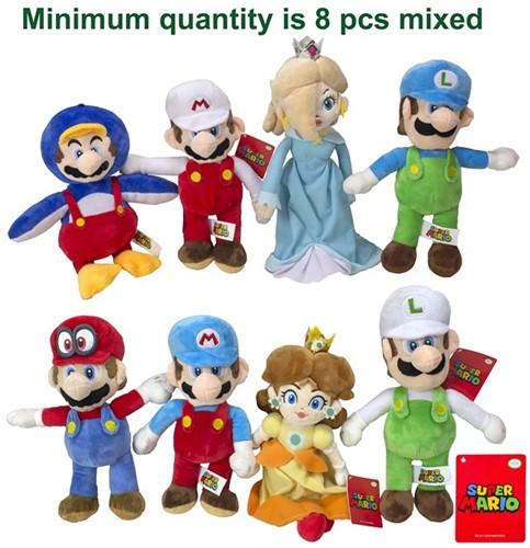 Mario Bross Pluche Characters 8 assorti S2 30cm