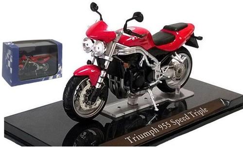 Motor schaalmodel 1:24 Triumph 955 Speed Triple 8x12cm
