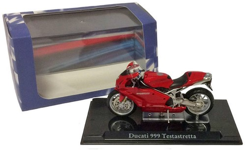Motor schaalmodel 1:24 Ducati 999 Testastretta 6,5x12cm-3