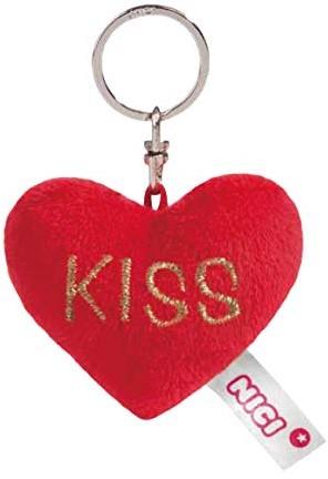 Nici Pluche Hart sleutelhanger Kiss