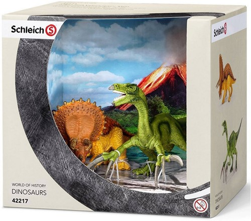 Schleich Dinosaurs set Triceratops en Therizinosaurus