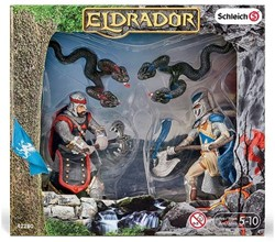 Schleich Eldrador Knight with axe and blood vipers 17x19cm