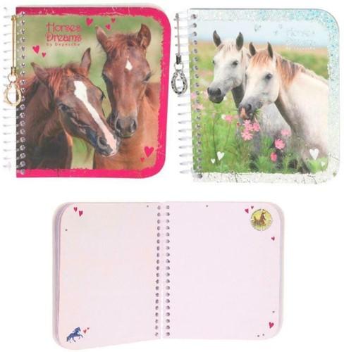 Depesche Horses Dreams Notitieboek 11x13cm 2 assorti in display (18)