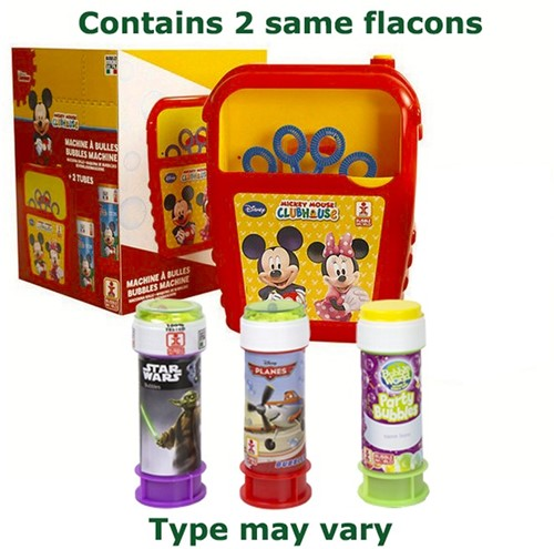 Mickey Mouse Bubble Blower + 2 Flacons a 60ml