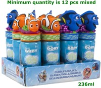 Finding Dory Bellenblaas 237ml 2 assorti 18cm in display