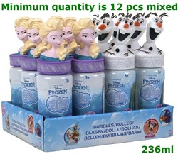 Frozen Bellenblaas 237ml 2 assorti 18cm  in display