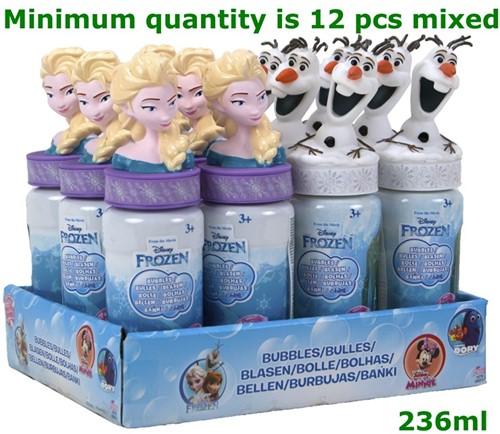 Frozen Bellenblaas 237ml 2 assorti 18cm  in display