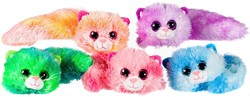 Pluche Cookie Cat Liggend 5 assorti in display 26cm