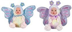 Pluche babypop in vlinder kostuum 2 asso