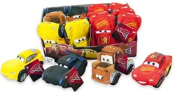 Disney Cars 3 Pluche 4 assorti in display 17cm