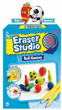 Beluga Eraser Studio Ball Games 15x27cm