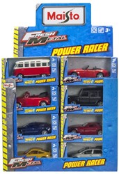 Maisto Fresh Metal Power Racer Voertuigen 12cm assorti 24 stuks in display