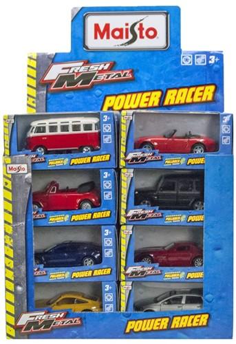 Maisto Fresh Metal Power Racer Voertuigen 12cm assorti 24 stuks in display