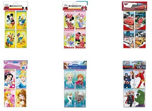 Disney Notitieboek 6 assorti 5,7x10cm