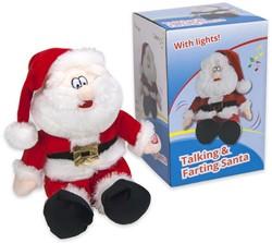 Kerstman Talking & Farting 25cm