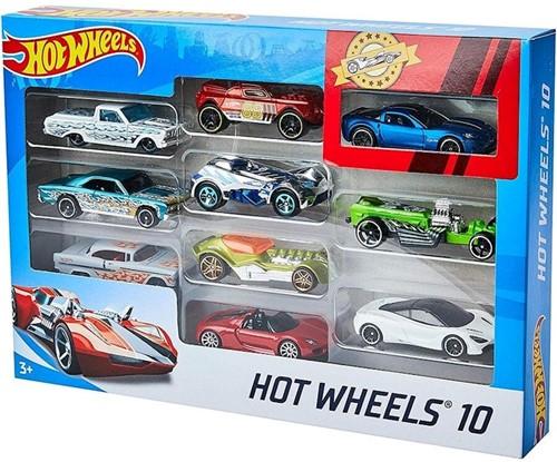 Hot Wheels Die Cast-voertuigen, pakket van 10, meerdere keren gesorteerd