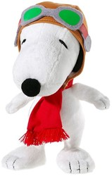 "Snoopy Pluche Snoopy ""Flying Ace"" 18cm"