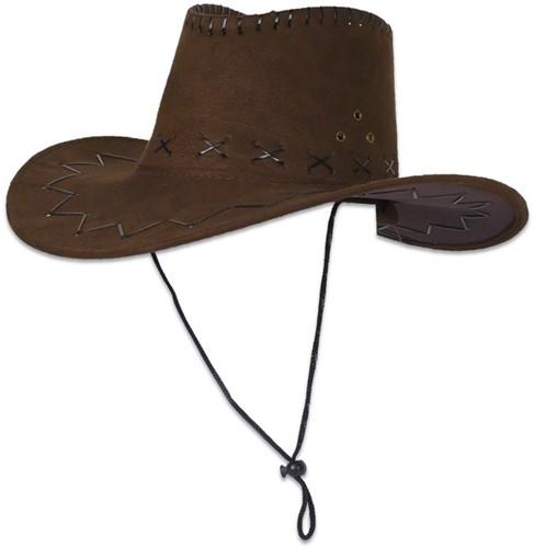 Cowboyhoed nubuk Bruin