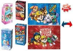Disney 2-Puzzel Pack 4 assorti 10x20cm