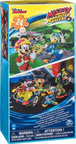 Disney Mickey Roadster Racers 2-Puzzel Pack 10x20cm