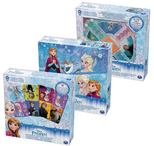 Disney Frozen Spellenset 3-delig (2-Puzzle Pack - Popper Jr. Game - Domino)