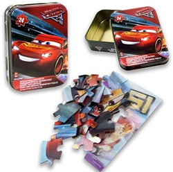 Disney Cars 3 puzzel 24 delig in blik