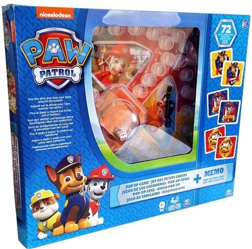 Paw Patrol Pop-Up Spel + Memo 27x31cm