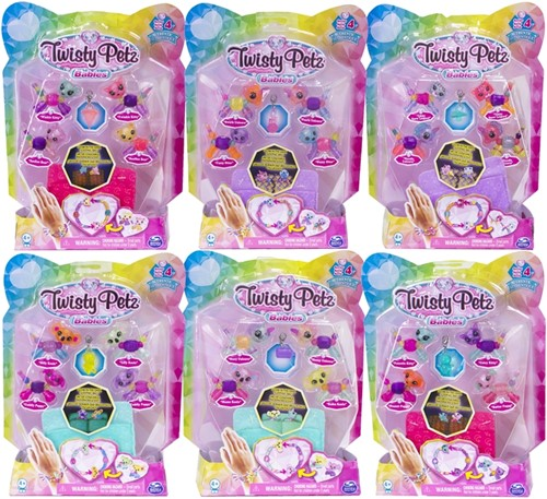 Twisty Petz Babies Vriendschapsarmband 6 assorti 16x21cm