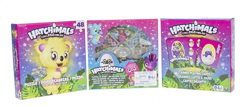 Hatchimals 3-Pack (Puzzle + Popper Jr. Game + Jumbo Playing Cars