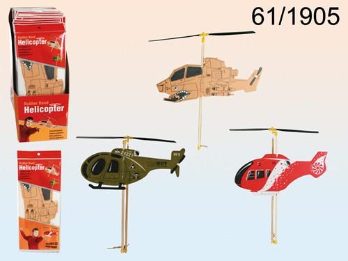 Rubber Band Foam Helikopter 3 assorti 13x30cm