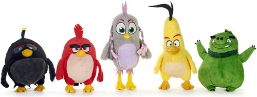 Angry Birds 2 Pluche 5 assorti S3 25-28cm