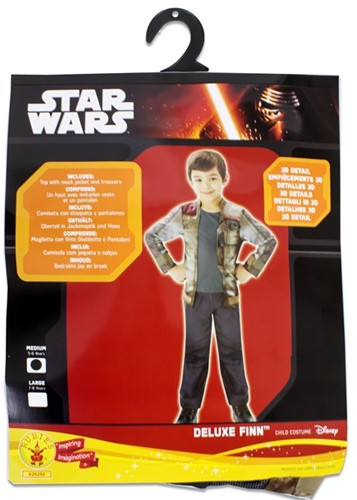 Rubies Kostuum Star Wars Deluxe Finn Medium