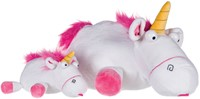 Minions Pluche Fluffy Unicorn liggend 25cm