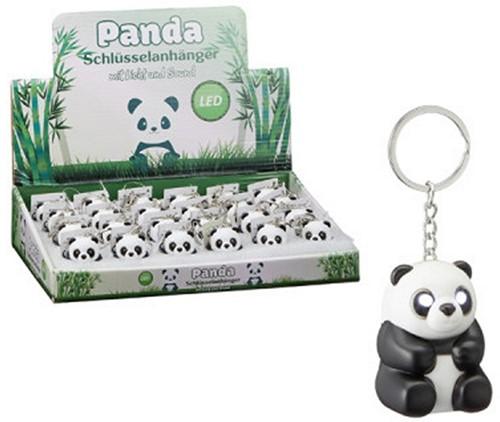 Sleutelhanger met licht en geluid Panda in display (24) 5,5cm