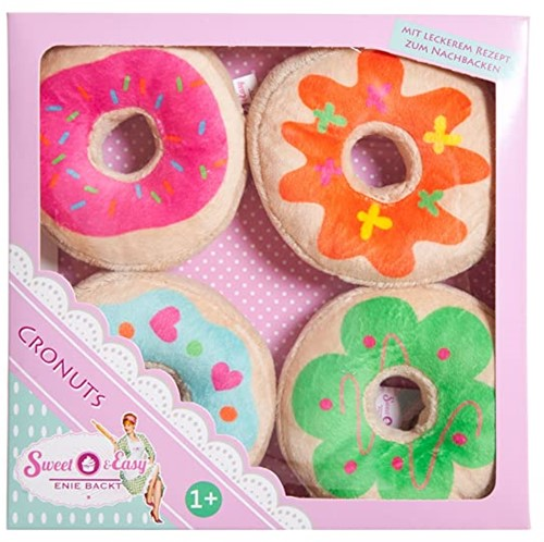 Sweet & Easy Pluche Cronuts / Donuts 4-pack 21x21cm