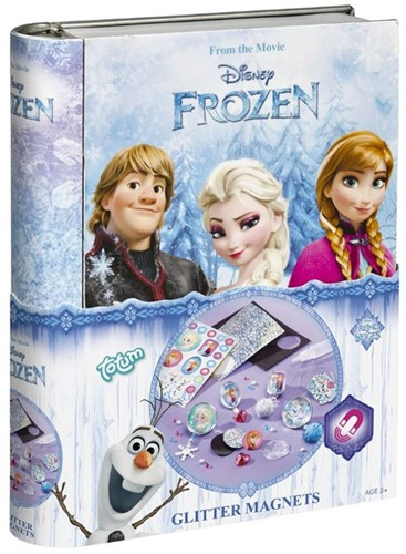 Disney Frozen Gltter Magnets in blik 15x19,5cm
