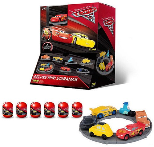 Blind Bag Disney Cars 3 verzamelfiguren in capsules Series1 assorti in display
