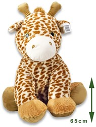 Pluche Giraffe zittend 65cm
